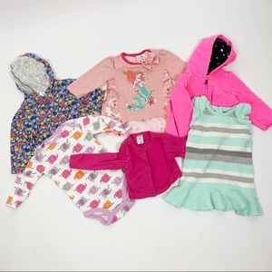 Lot Of 6 Baby Girl Clothing Items Jackets